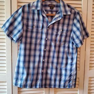 Michael Kors Plaid Short Sleeve Button Shirt